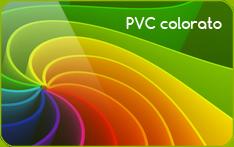 card in PVC colorato