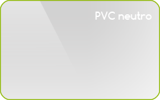 card in pvc neutro